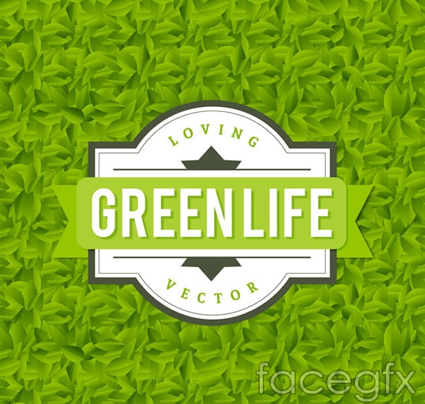 Life leaves background vector
