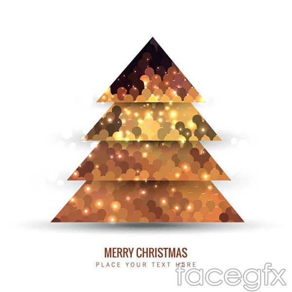 Paper Christmas tree greeting cards vector