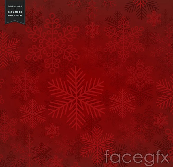 Red snowflake background vector