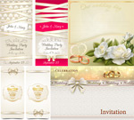 Bow ring card vector