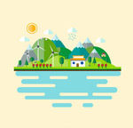 Landscape Illustrator vector