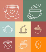Linear coffee icon vector
