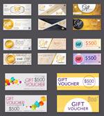 Stylish coupon card vector