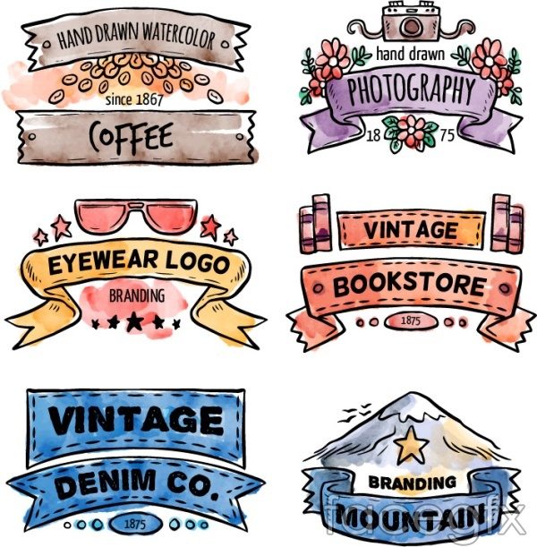 Watercolor style sign vector