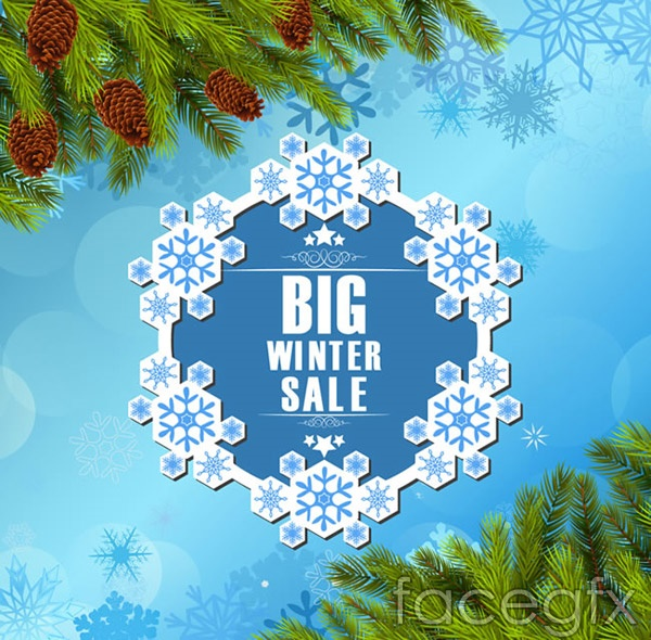 Winter promotional poster vector