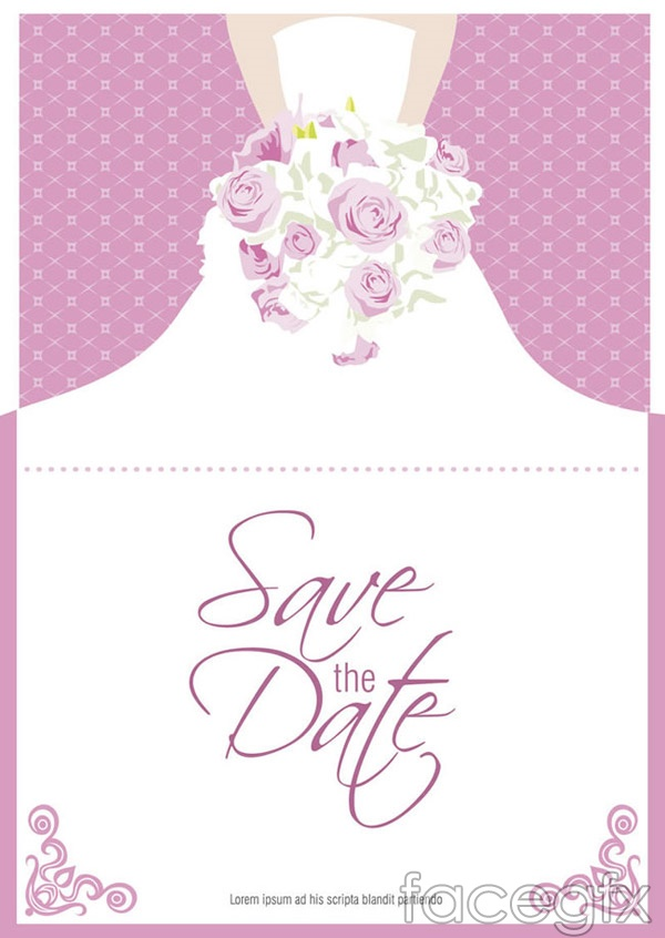 Bouquet bride folding cards vector