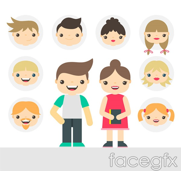 Cartoon characters and avatars vector