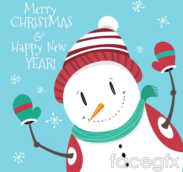 Cute snowman design vector