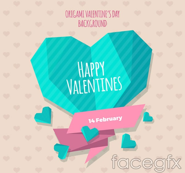 Geometry of love greeting cards vector
