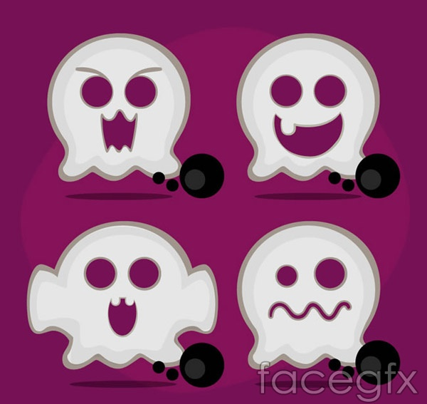 Halloween ghost white vector