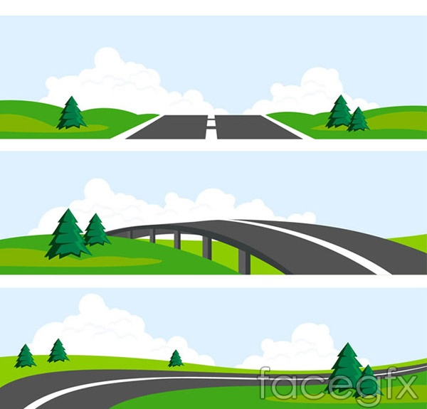 Outskirts of Highway landscape vector