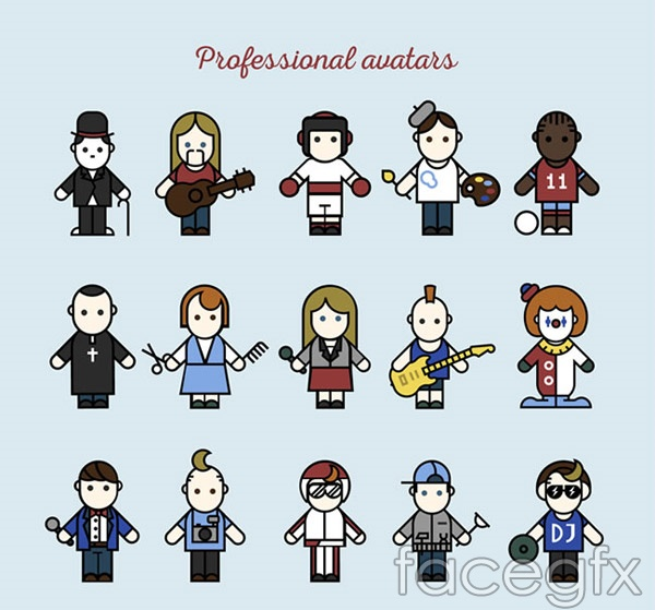 Professional character vector