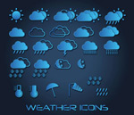 Blue weather icon vector