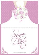 Bouquet bride folding cards vector