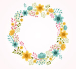 Cartoon round wreath vector