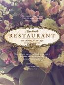 Classic floral menu vector