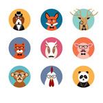Fashion animal avatars vector
