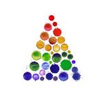 Ink dot tree vector