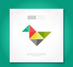 Tangram decorating books vector