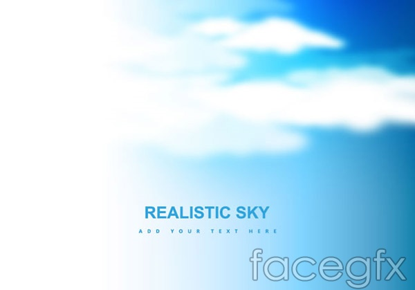 Dream of blue sky and white clouds vector