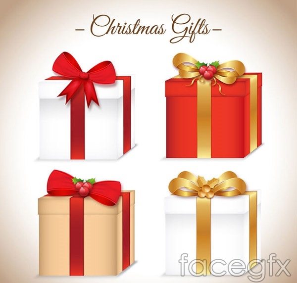 Gift Bag Christmas Vector Ai