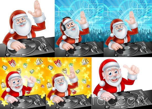 Santa with DJ vector