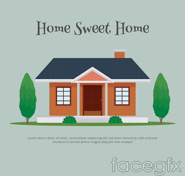 Sweet House vector Ai