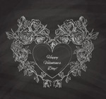 Chalk rose of love vector