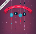 Ornaments new year card vector