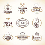 Restaurant menu logo vector