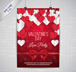 Valentine's Day heart party vector